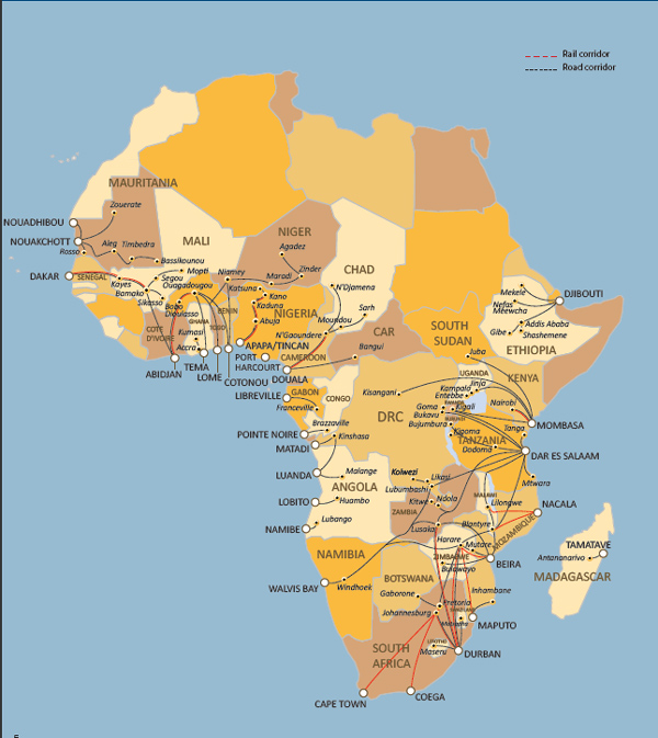 非洲主要港口分布_非洲物流_上海旭洲